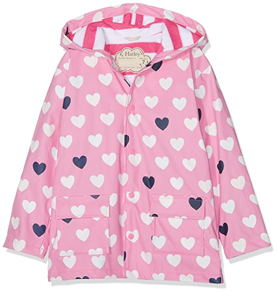 9e5753f89 Hatley Kids Colour Changing Raincoat - Lovely Hearts - 3 Years / 97 cms Pink