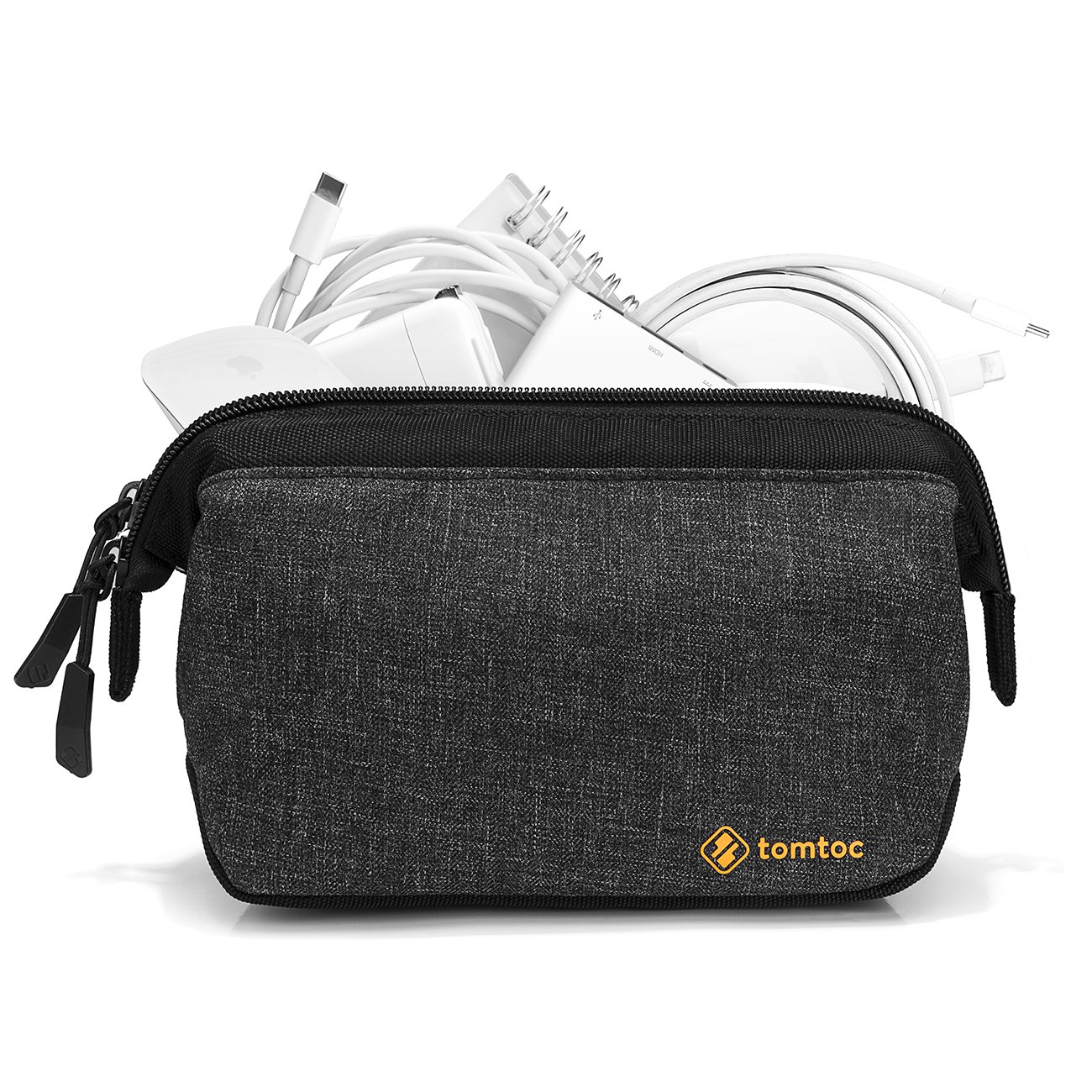 Tomtoc Laptop Accessory Pouch Bag Organizer, Electronics Gadgets Speaker Camera Storage Case, Waterproof Travel Toiletry Bag and Makeup Cosmetics Bag, Healthcare Kit for Men and Women