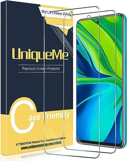 UniqueMe [2 Pack] Protector de Pantalla para Xiaomi Poco X3 NFC/Xiaomi Redmi Note 9S / Note 9 Pro/Note 9 Pro MAX, Vidrio Templado [9H Dureza] HD Film Cristal Templado