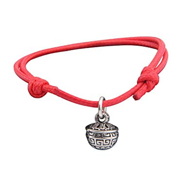 authentic red bracelet silver necklace string with heart kabbalah