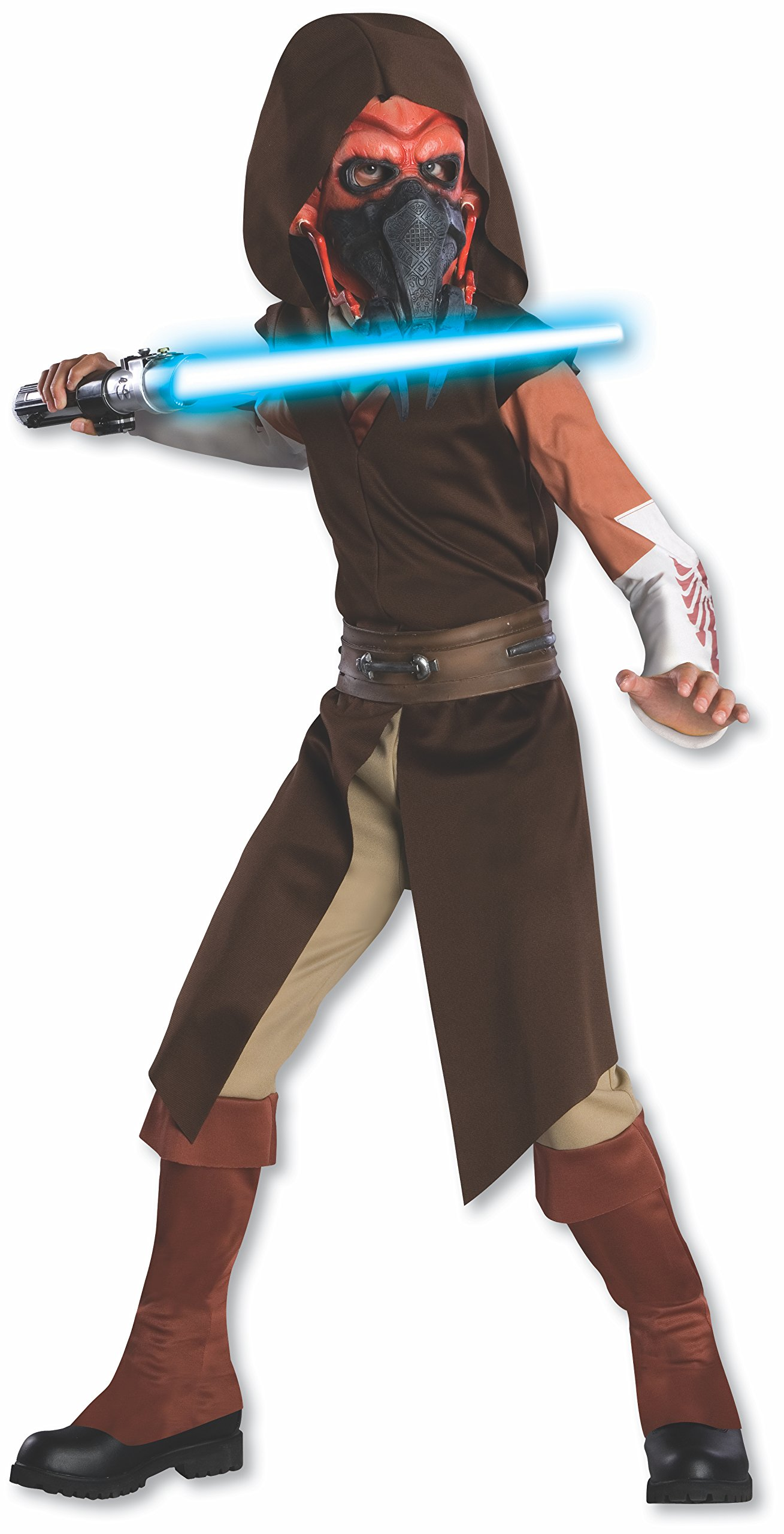 Rubies Star Wars Clone Wars Child's Deluxe Plo Koon Costume and Mask, Large