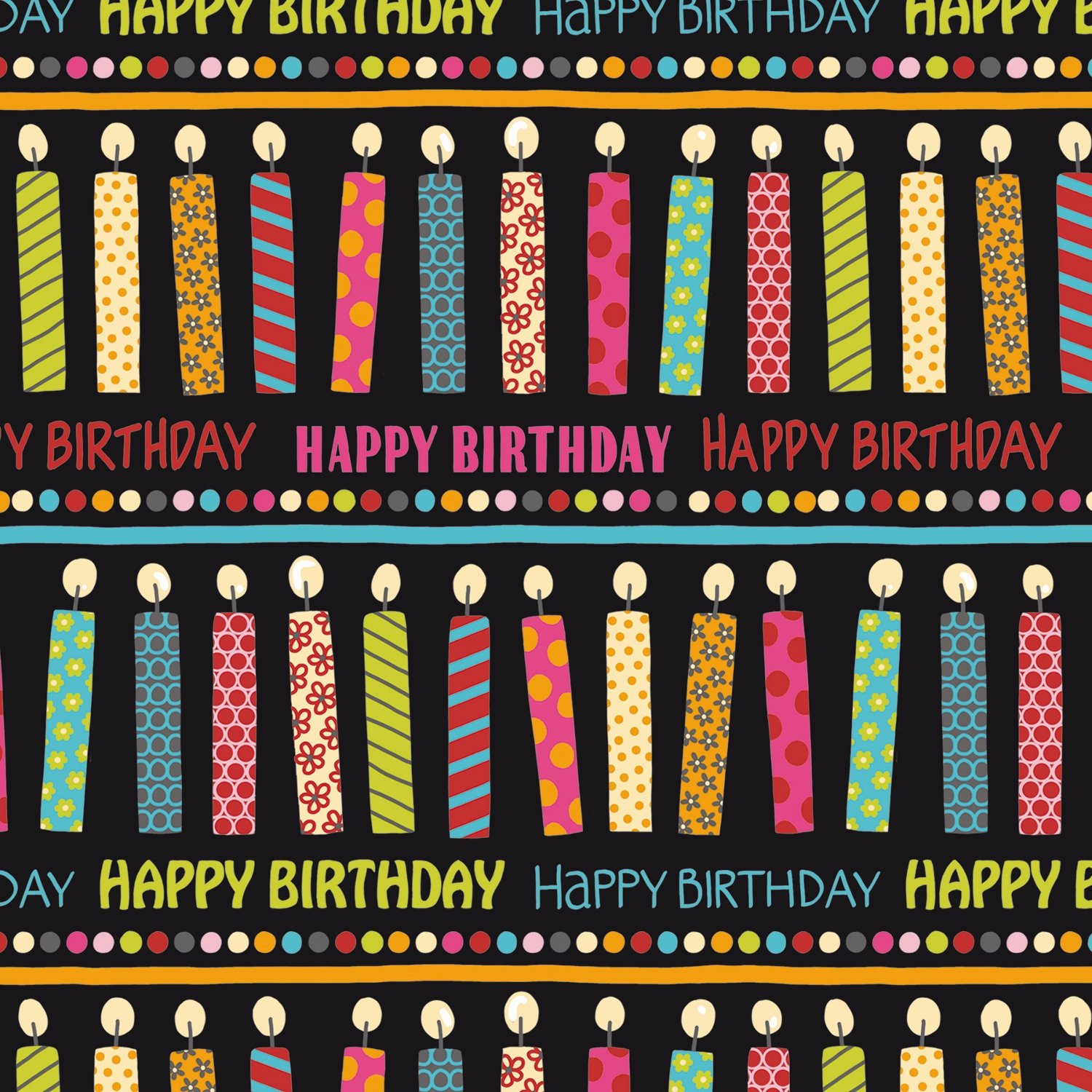3-Count Premium Wrapping Paper Rolls, Say It's Your Birthday by The Gift Wrap Company