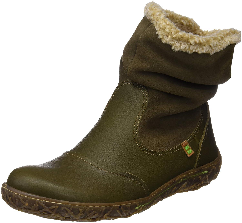 El Naturalista N758 Soft Grain-Lux, Botines para Mujer36 EU|Verde (Olive Olive)