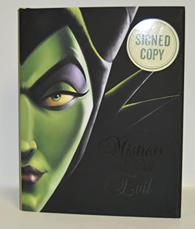 SERENA VALENTINO signed Mistress of All Evil: A Tale of the Dark Fairy (Villains