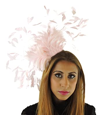 Giant Eagle Owl Feather Fascinator Hat for Ascot 9319ee60baf