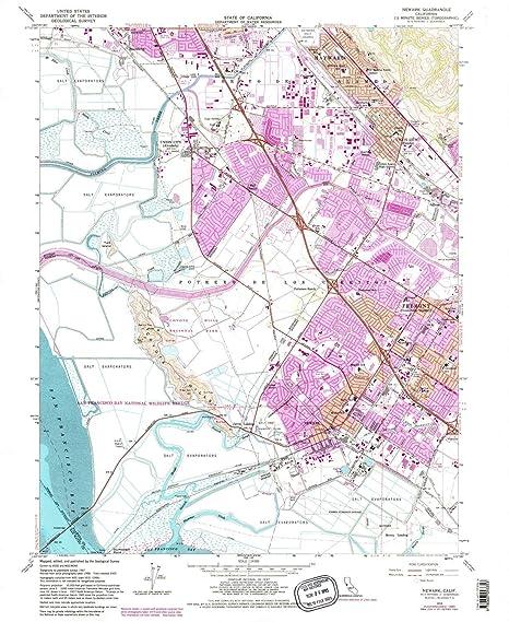 Amazon Com Yellowmaps Newark Ca Topo Map 1 24000 Scale 7 5 X 7 5