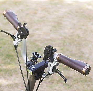 Ergonómico Eco Piel para manillar de aluminio Lock para Brompton ...