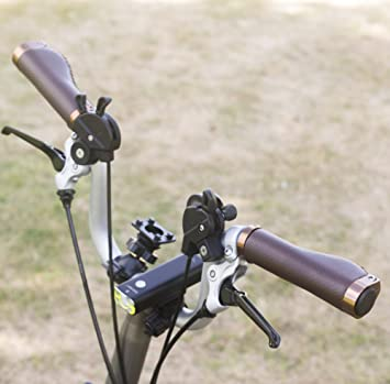 Ergonómico Eco Piel para manillar de aluminio Lock para Brompton Bicicleta