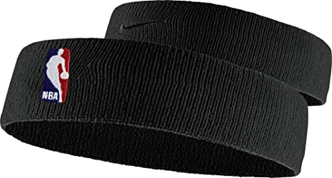 5111baaed6f Amazon.com   Nike NBA On-Court Headband (Black)   Sports   Outdoors