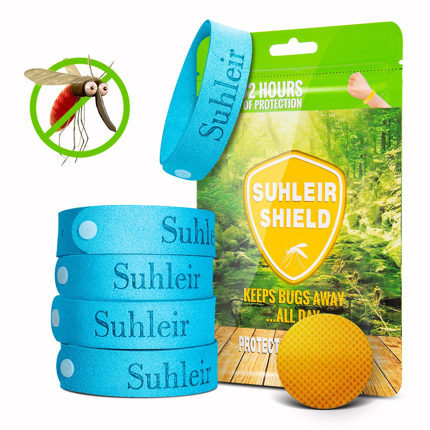 Betterlive Mosquito Repellent Bracelet 5 and 6 mosquito patch for Adults and Children Deet Free, repellent bracelets Mosquito Bracelet Anti Fly, Insects etc Suhleir