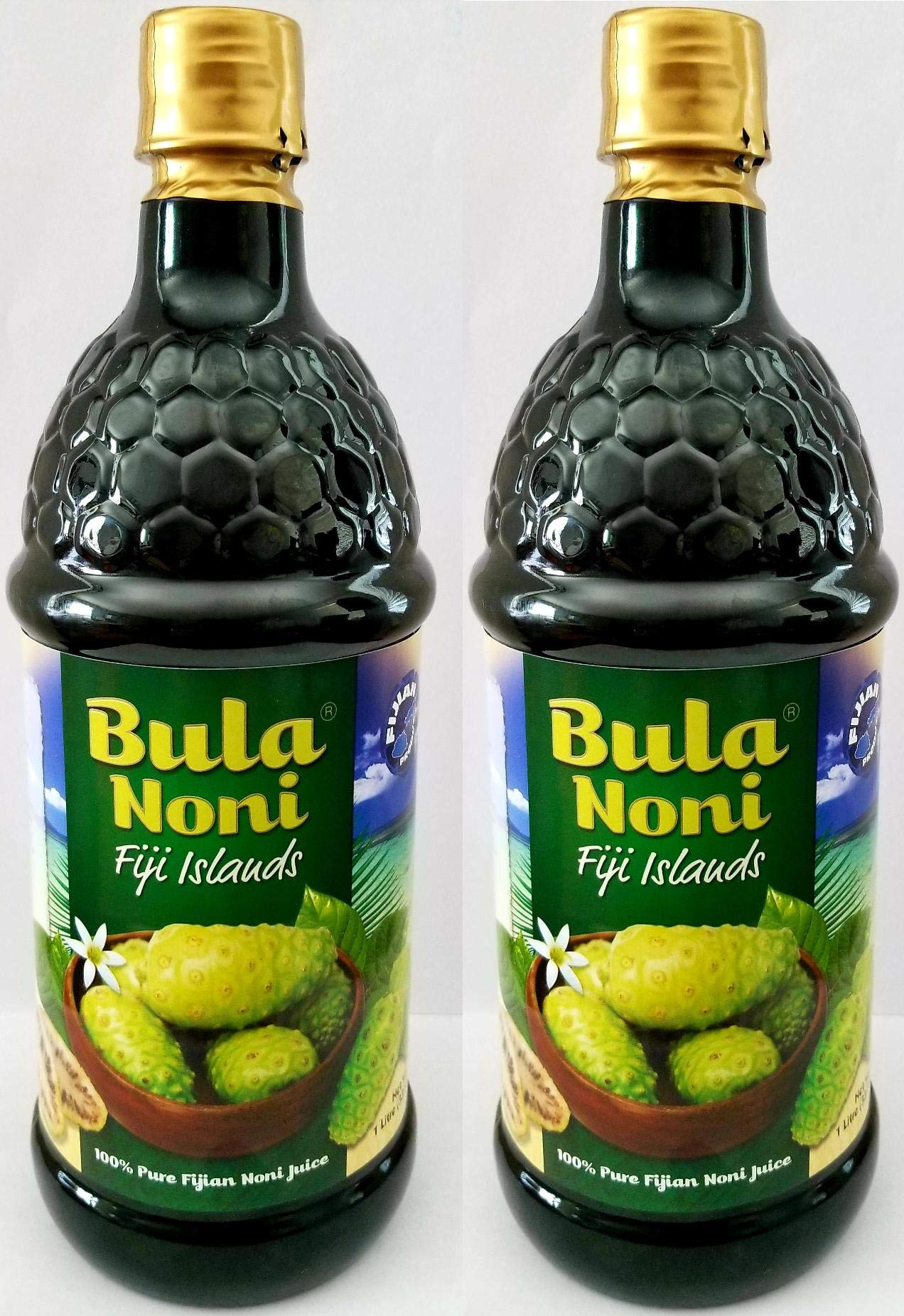 Bula NONI®Juice 100% Pure Certified Organic 2PK Case. (Two 1 Liter Bottles per case) Today's Deal. Nature's Super Food Juice.