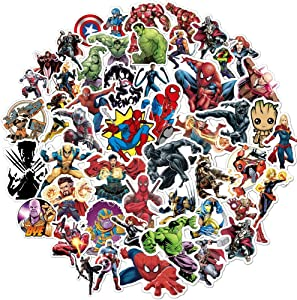 Superhero Avengers Stickers for Teens,Comic Legends Stickers with Party Favors for Kids,Graffiti Waterproof Decals for Hydro flasks Water Bottles Bikes Luggage Skateboard Bumper(104pcs Random)