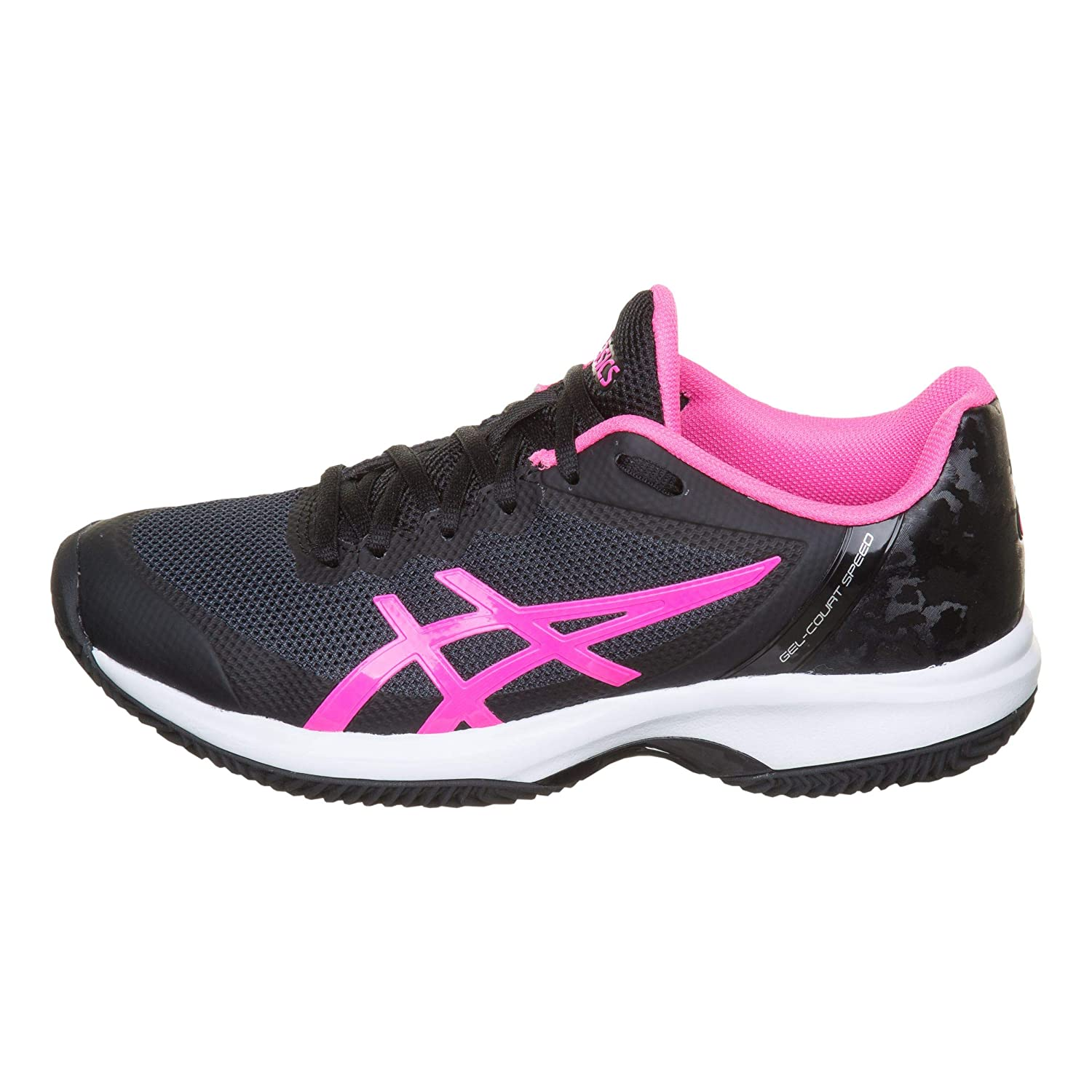 ASICS Gel Court Speed Clay Mujer Negro Rosa E851N 9020: Amazon.es ...