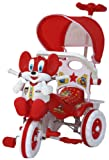Amardeep and Co Baby Tricycle Red 86*64*33 cms 1-3 yrs W/Shade and Parental Control  - Red-1522MZ