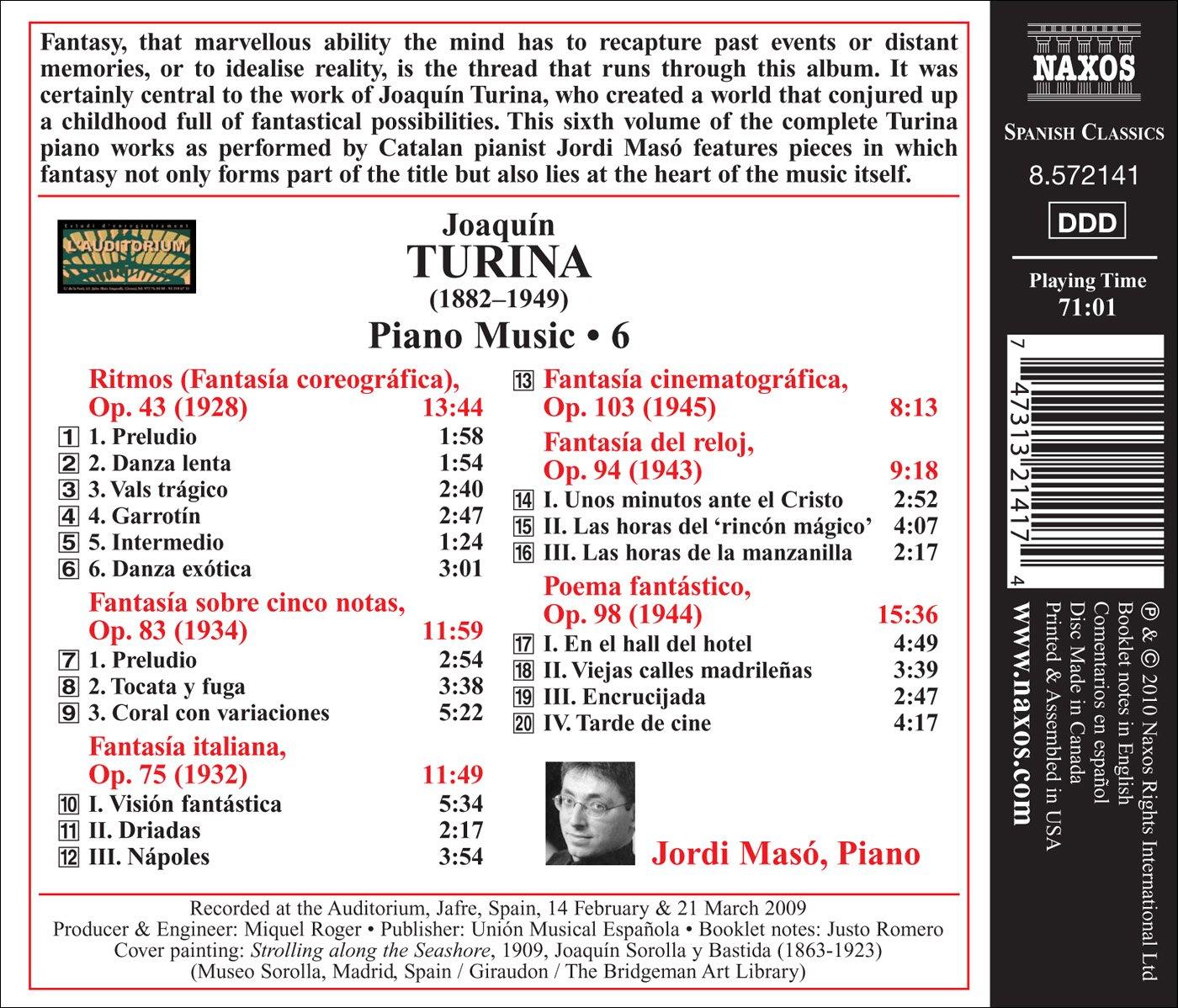 Joaquin Turina, Jordi Maso - Turina: Ritmos / Fantasia - Amazon.com Music
