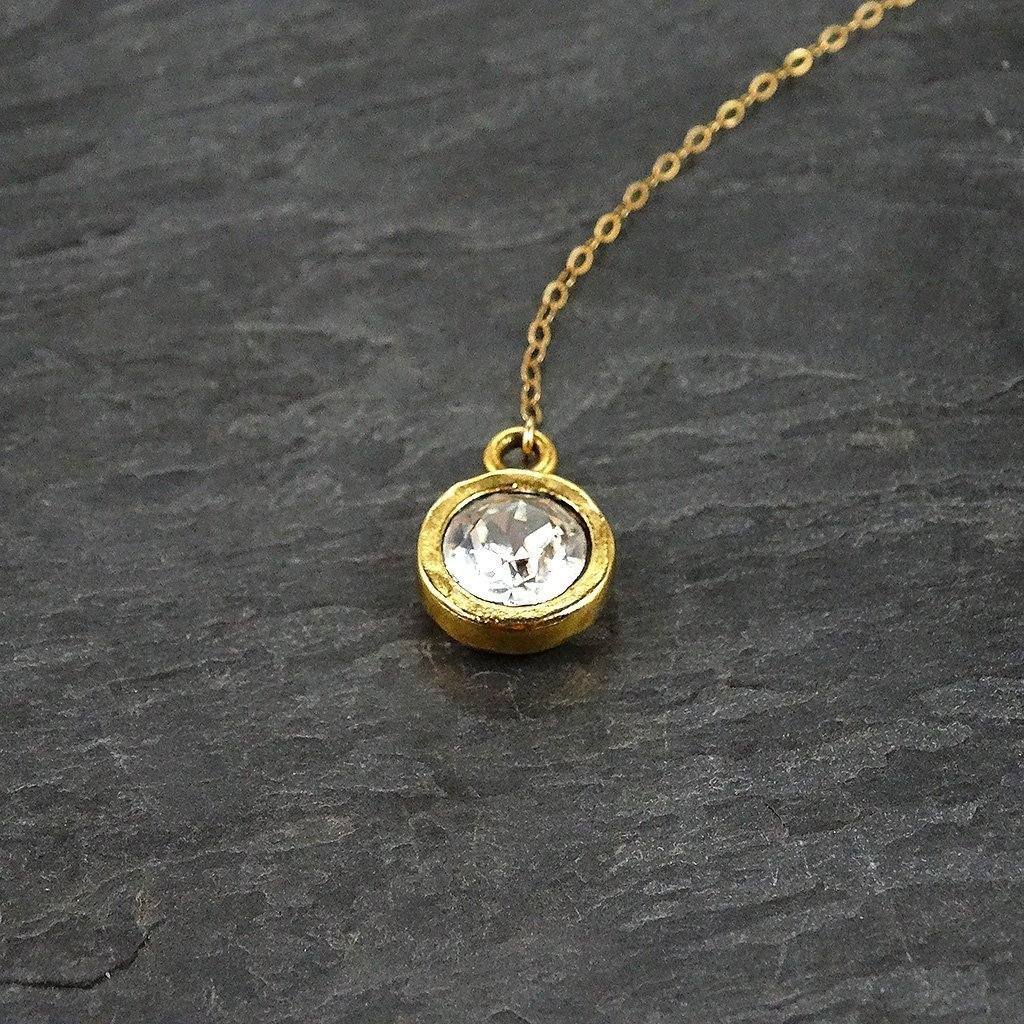 Gold Filled Long Crystal Lariat Drop Necklace Jewelry Gift for Her