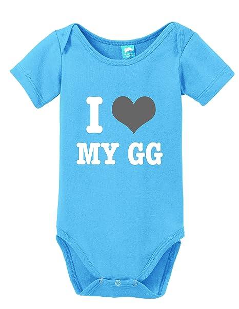 e1cf3fe08 I Love My GG Printed Infant Bodysuit Baby Romper Light Blue 3-6 Month