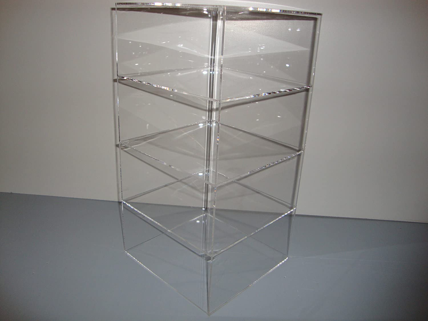 acrylic countertop rosseto bakery display clear tier case