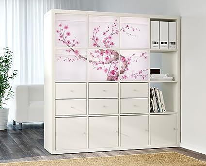 DRONA Personalizado Cajas de almacenaje IKEA Expedit o Kallax Insertar (Sakura árbol)