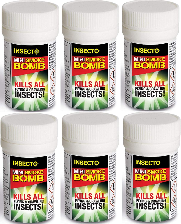 6x pulgas Bomba Nebulizadores - MASCOTA PERRO GATO Pulgas Bomba de humo pulgas Casa sala de fumers