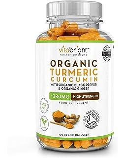 Ultra Pure Organic Turmeric Curcumin and Organic Black Pepper