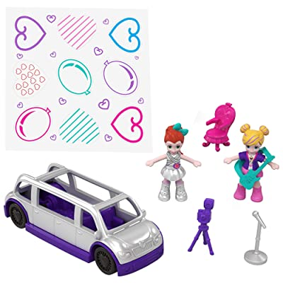 Polly Pocket Hidden in Plain Sight Dance Par-taay Case: Toys & Games