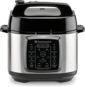 Toastmaster Electric Pressure Cooker, 6 Quart, Stainless Steel