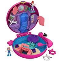 Polly Pocket Set Piscina dei Fenicotteri con Nuovo Cofanetto, 2 Dolls, 1 Micro-Veicolo e Accessori,, FRY38