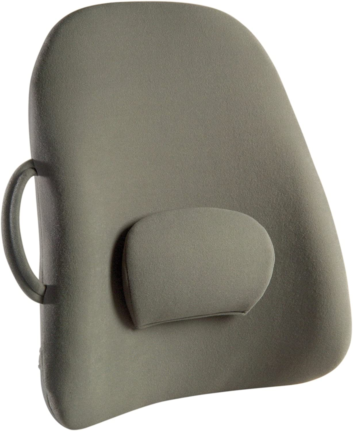 B000FJQYQU ObusForme Grey Lowback Backrest Support, Removable Adjustable Lumbar Support, Contoured Cushioning Provides Supportive Comfort, Handle For Portability, Hypoallergenic Cover Can Be Removed To Wash 81dHFSHEwqL