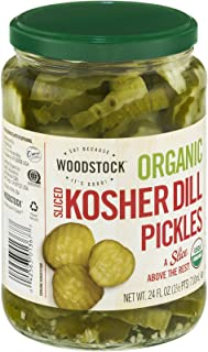 product image for Woodstock Organic Kosher Dill Pickles Sliced 24 OZ (Pack of 12)