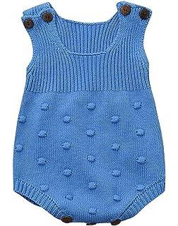 26dd56777 Amazon.com  Bokeley Newborn Baby Clothes Boy Girl Weave Romper ...