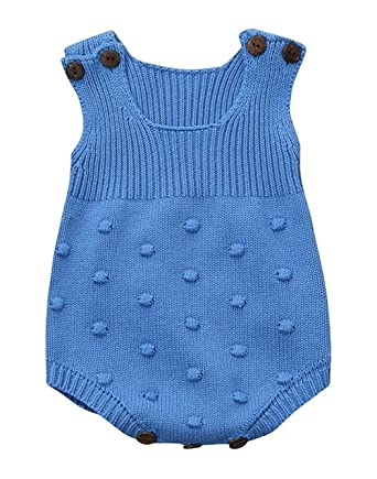 c5bcb1f80 Amazon.com  Eiffel Direct Baby Girls Boys Knitted Striped Spot ...