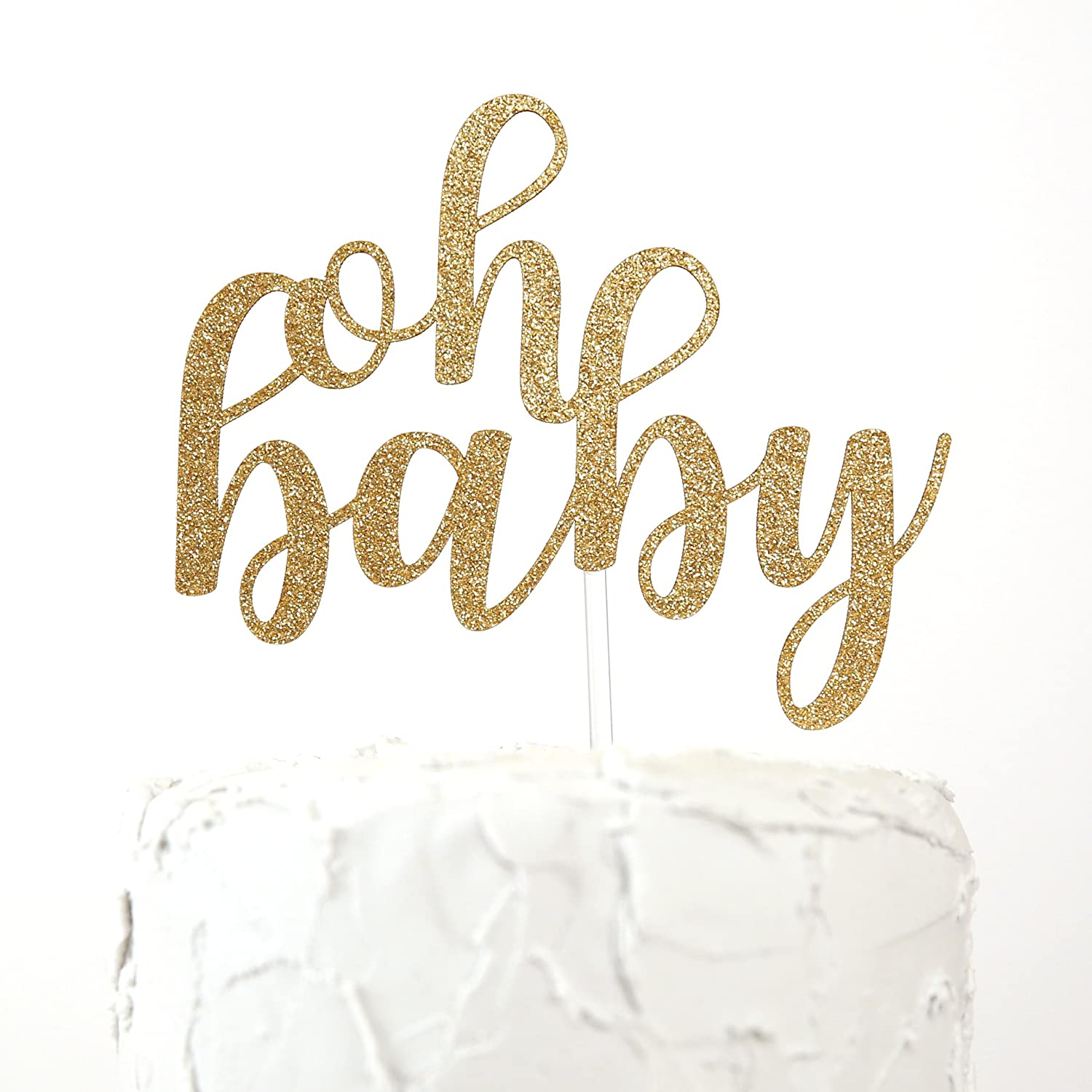 NANASUKO Baby Shower Cake Topper - oh baby - Premium quality Made in USA