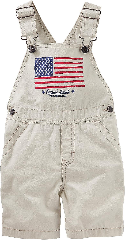 OshKosh BGosh Baby Boys American Flag Shortalls