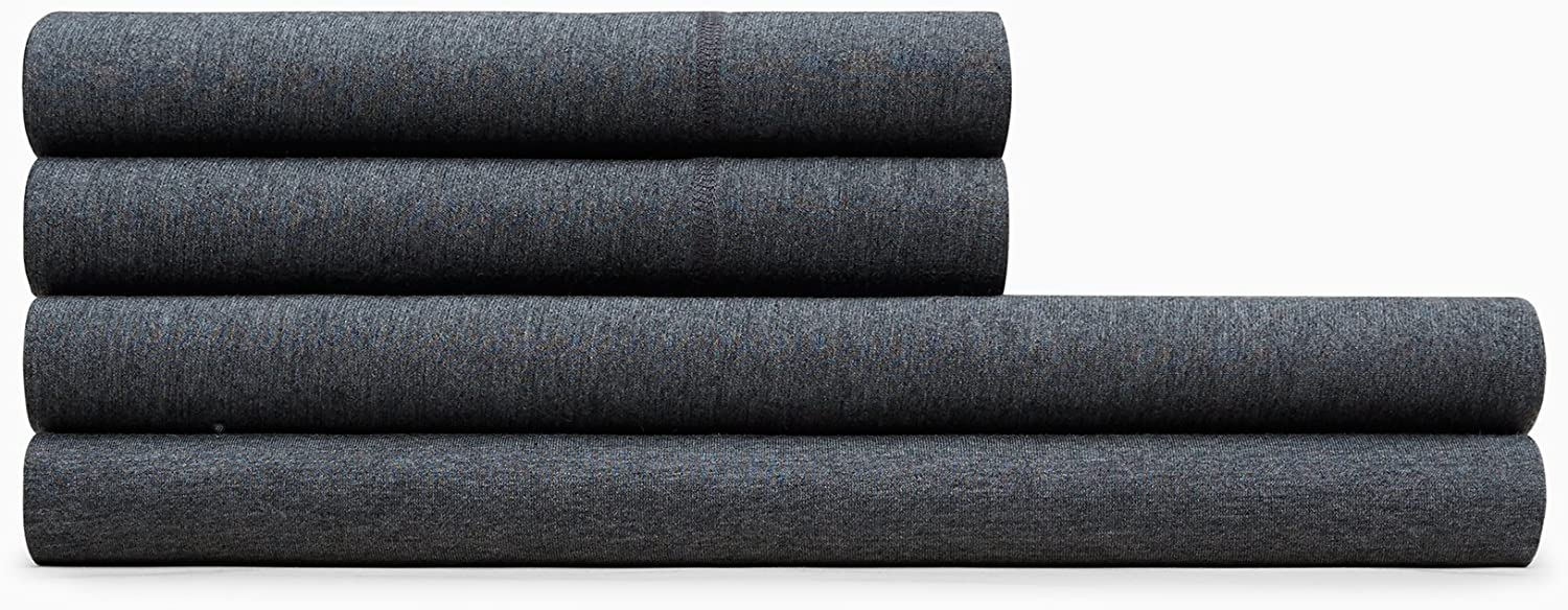 Calvin Klein Home Modern Cotton Body Full Fitted Sheet, Charcoal