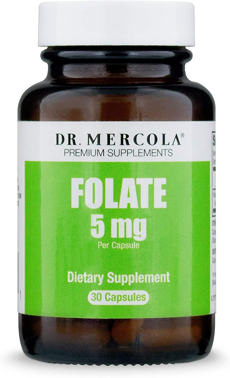 Dr. Mercola, Methyl Folate Dietary Supplement, 30 Servings 30 Capsules , Non-GMO, Soy-Free, Gluten Free