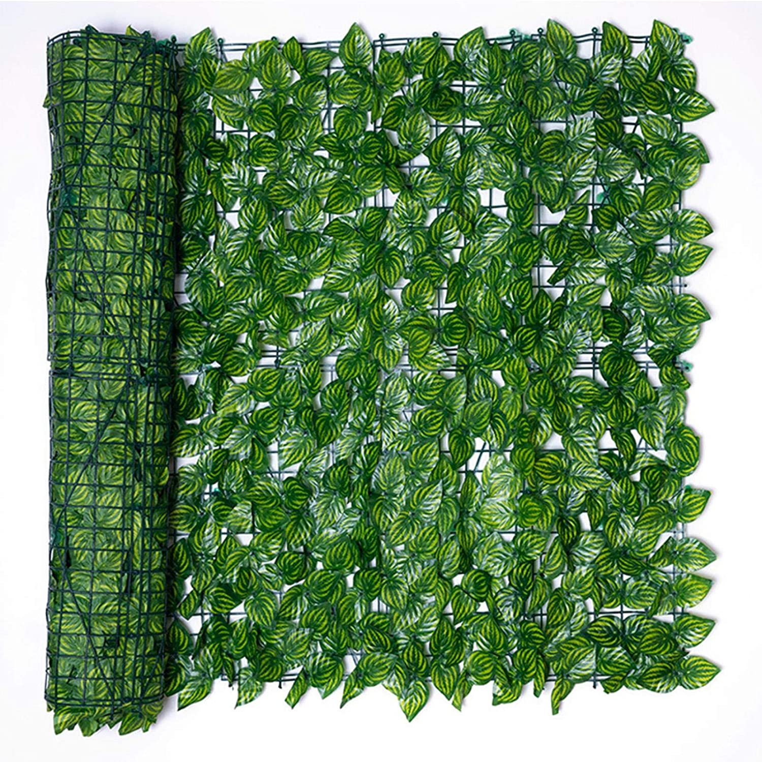 DENPETEC Artificial Ivy Privacy Fence Screen, Faux Ivy Hedge Fence and Vine Leaf Wall Screen Panels for Outdoor Garden, Home, Backyard and Decorations Green