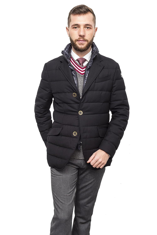 Antonio Gatti 2016-2017 New Mens Winter Spring Cashmere/Merino Slim Fit Casual Single Breasted Down Jacket Blazer Outerwear With Detachable Fleece