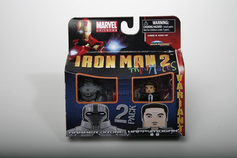 Marvel Minimates Series 35 Iron Man 2 Movie Hammer Drone /& Happy Hogan Variant