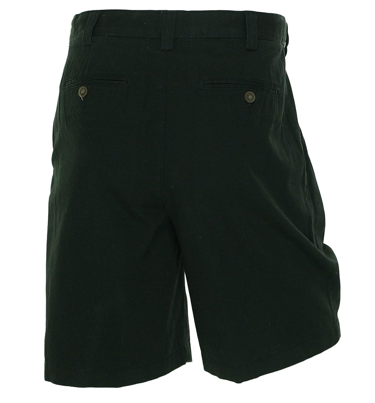 Geoffrey Beene GB Mens Black Pleated Walking Shorts