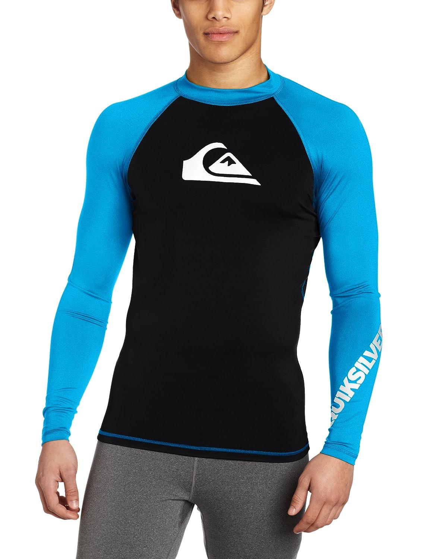 Quiksilver Young Men/'s Sportswear EQYWR03034 Quiksilver All Time Long Sleeve Rashguard Swim Shirt UPF 50