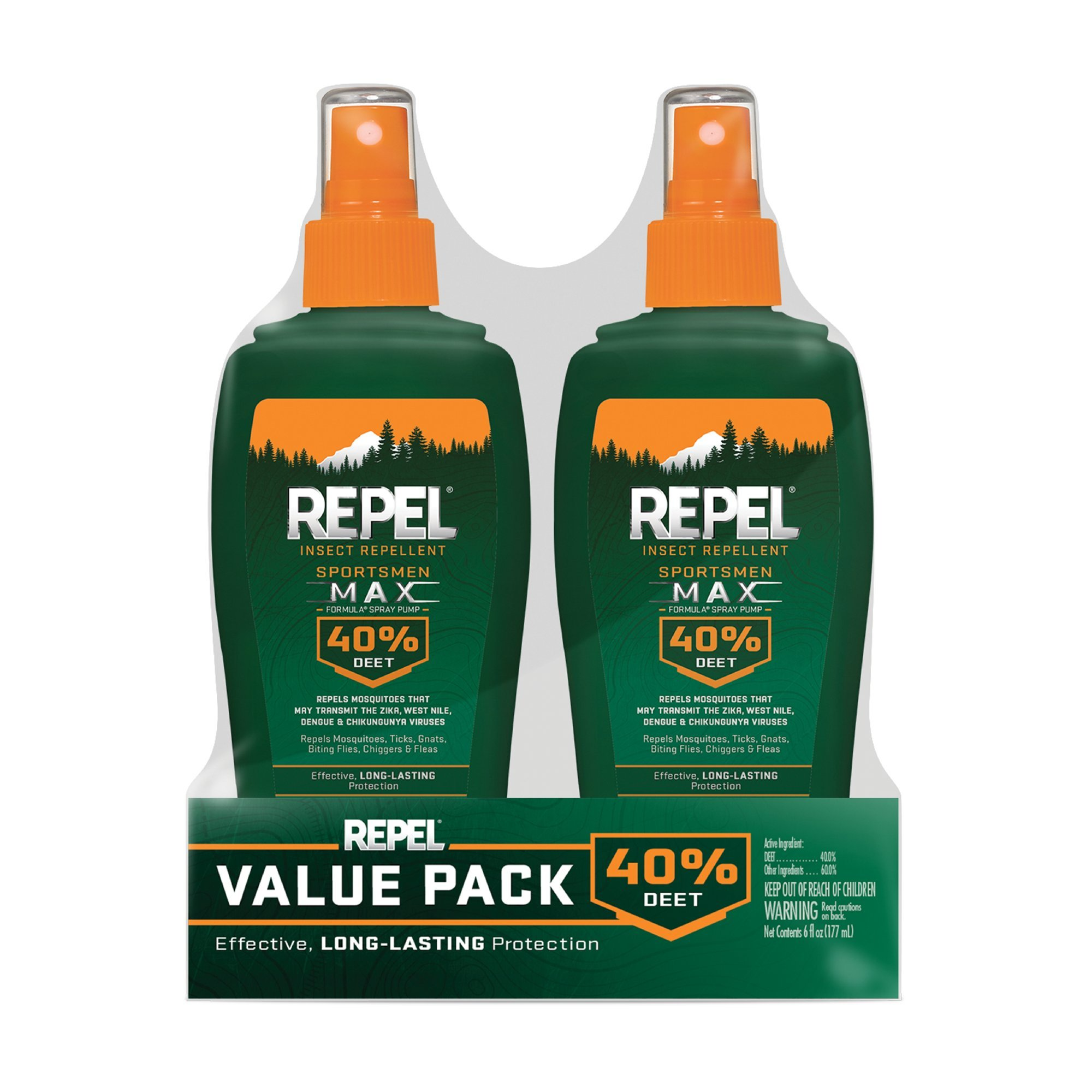 Repel Sportsmen Max Insect Repellent Pump Spray, 6-oz, 2-PK by Repel