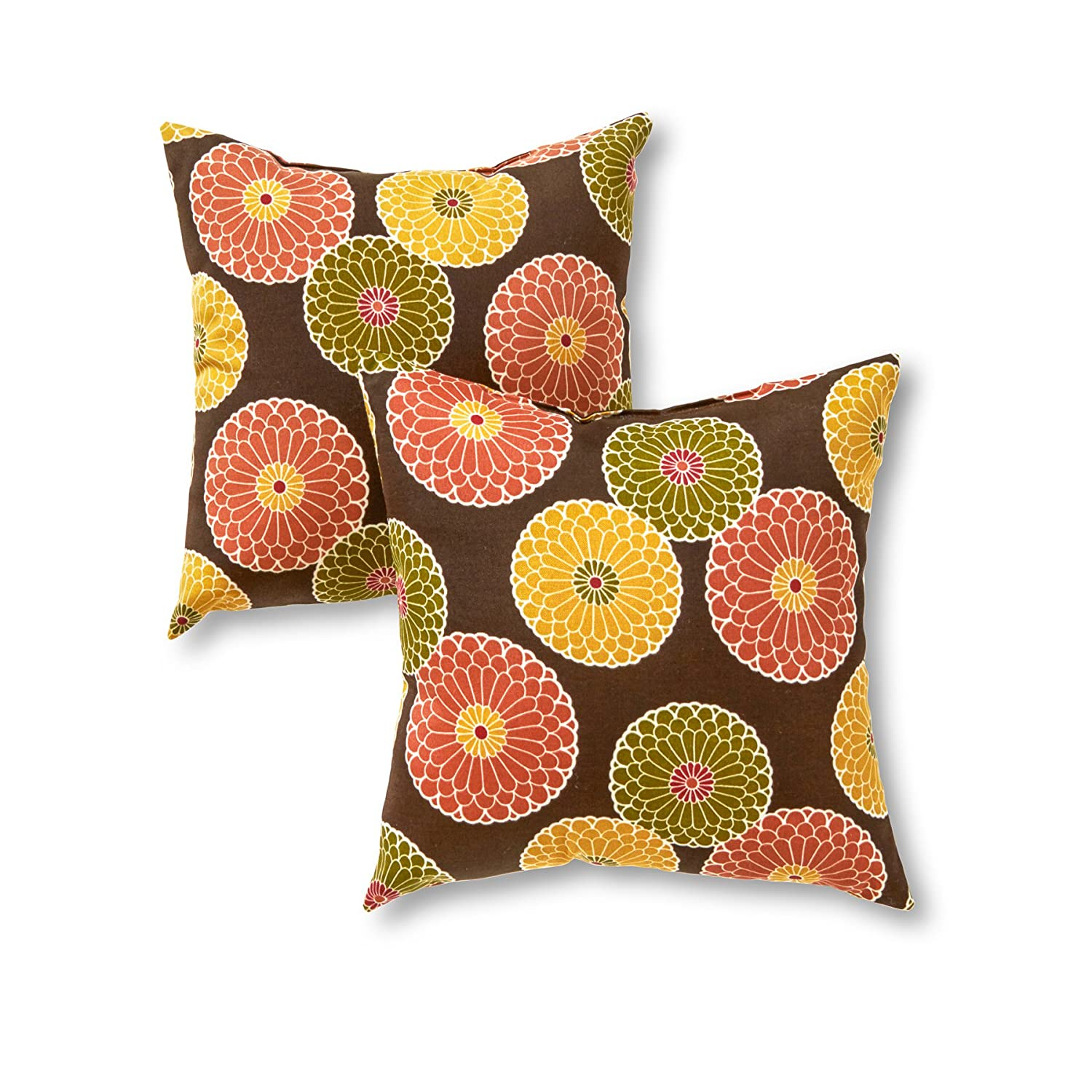Unique Decorative Accent Pillows : Home Indoor Outdoor Accent Pillows Decorative Designer Decorator Set of 2 New eBay