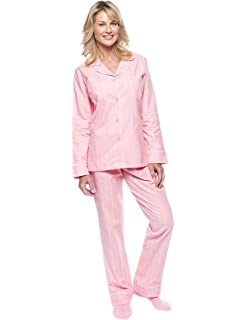 96f7caf347 Noble Mount Twin Boat Womens 100% Cotton Flannel Pajama Sleepwear ...
