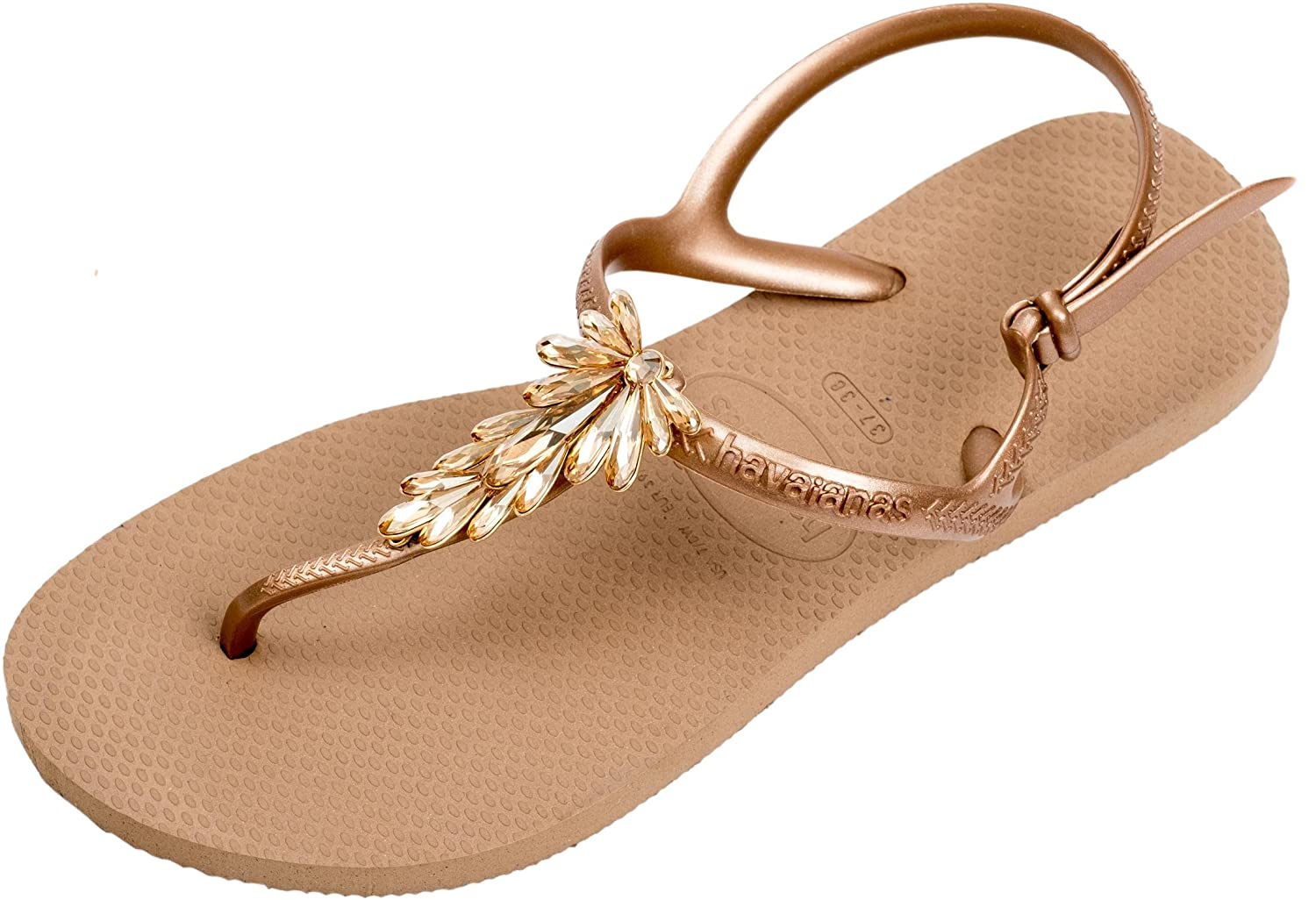 b22b64f68 Havaianas Women s Freedom Capri Sandals Swarovski Crystals  Amazon.co.uk   Shoes   Bags
