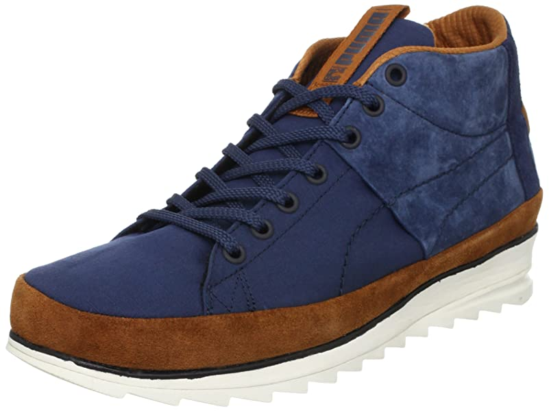 624841ab1314 Puma Wayler Mid 354660 02 Mens suede sneakers   Casual shoes Blue 8 UK   Amazon.co.uk  Shoes   Bags
