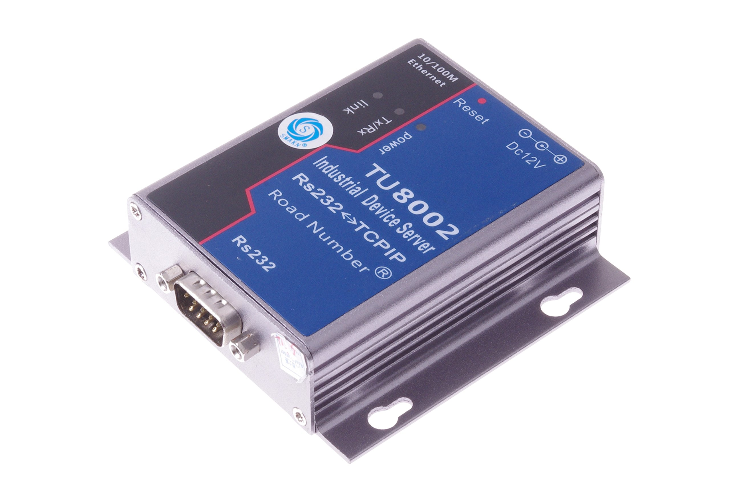 SMAKN USR RS232 to RJ45 /Serial to Ethernet TCP IP Converter, TCP Server, TCP