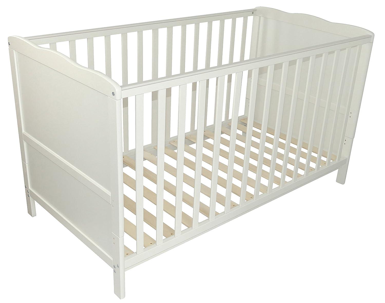 Puckdaddy lettino 140x 70 cm, convertibile in letto per bambini nuvola bianca