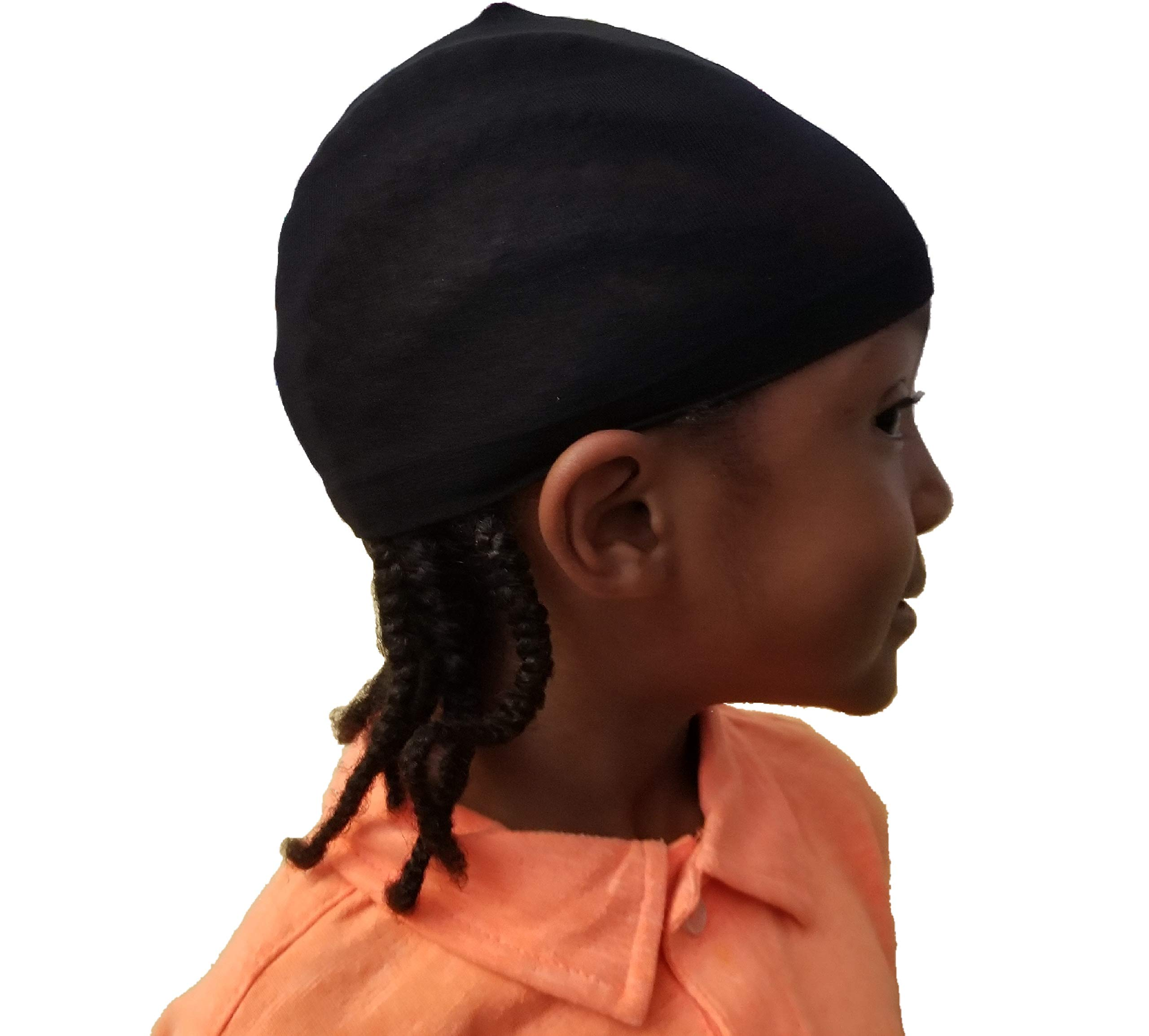 2 pcs Kids Wave caps du rag Hip hop doo rag Stocking Cap fit Children Head for Long Styles or Waves