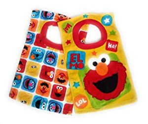 Elmo Sesame Street Terrycloth Bib Set of 2